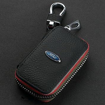 clave del coche titular de la caja monedero de la carpeta monedero de llavero Ford Logo