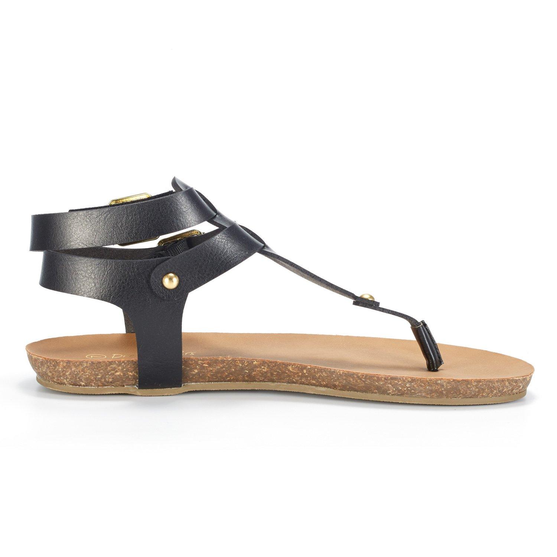 c36ead9c0d58 Women BOLD 03 DREAM PAIRS Women s Bold 03 Thong Design Ankle Strap Fashion  Summer Flat Sandals