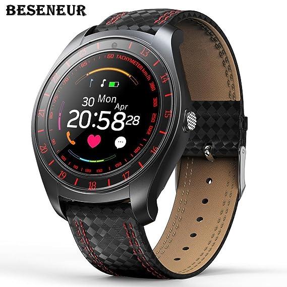 Beseneur V10 Smart Watch hombres con la cámara Bluetooth Smartwatch Pedometer Monitor tarjeta Sim reloj para