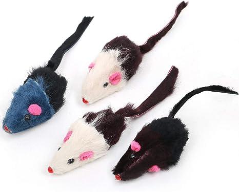 DIGIFLEX Ratones Juguetes para Gatos - 4 Ratones con Nepeta y Sonajero - Juguetes para Mascotas: Amazon.es: Deportes y aire libre