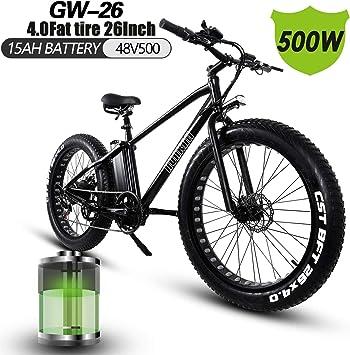 XXCY Bicicleta Eléctrica De 26 Pulgadas 500w Bicicleta De Montaña ...