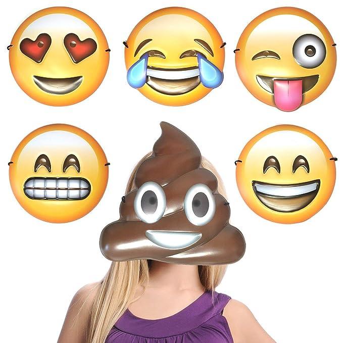 6 Set Emoji Parte máscaras Photo Booth Props para Boda ...