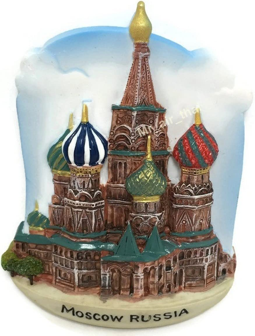 Moscow Russia SOUVENIR RESIN 3D FRIDGE MAGNET SOUVENIR TOURIST GIFT 019