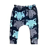 Puseky Infant Baby Kids Boys Girls Animal Wolf Print Harem Pants Long Crawling Trousers (18-24 Months)