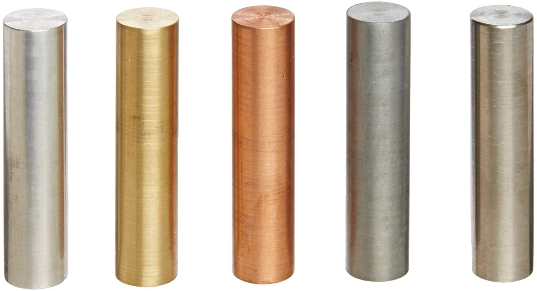 Ajax Scientific 5 Piece Metal Specific Gravity Cylinder Set, 10mm Diameter x 40mm Length ME109-0540