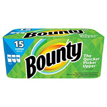 Bounty Select-a-Size Paper Towels, White 2 Packs 15 Jumbo Roll Each