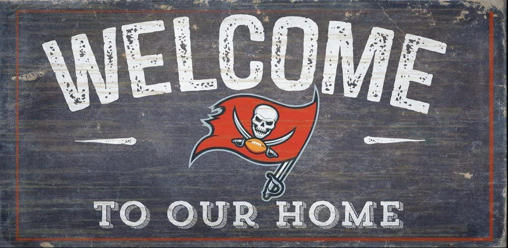 Fan Creations Welcome Tampa Bay Buccaneers Distressed 6 x 12, Multi