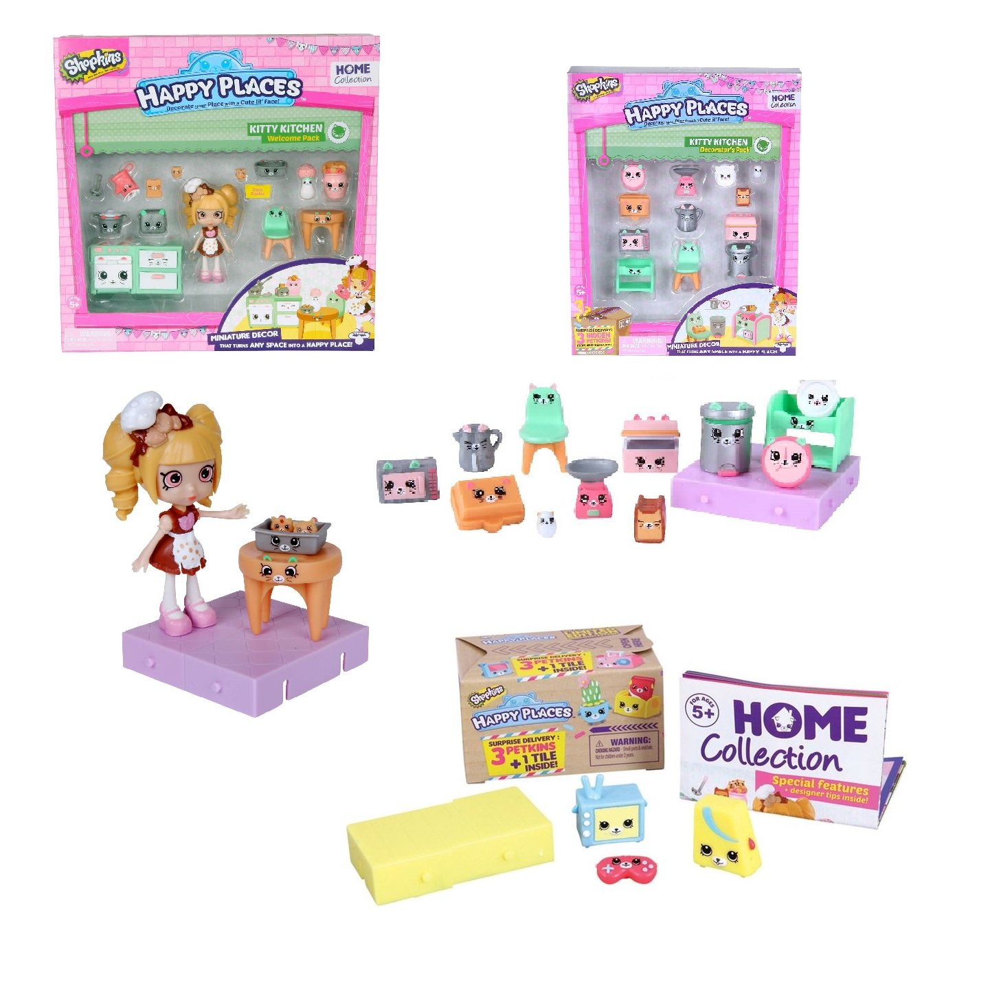 Amazon.com: Shopkins Shoppies Pam Cake Petkins Happy Places Kitty ...
