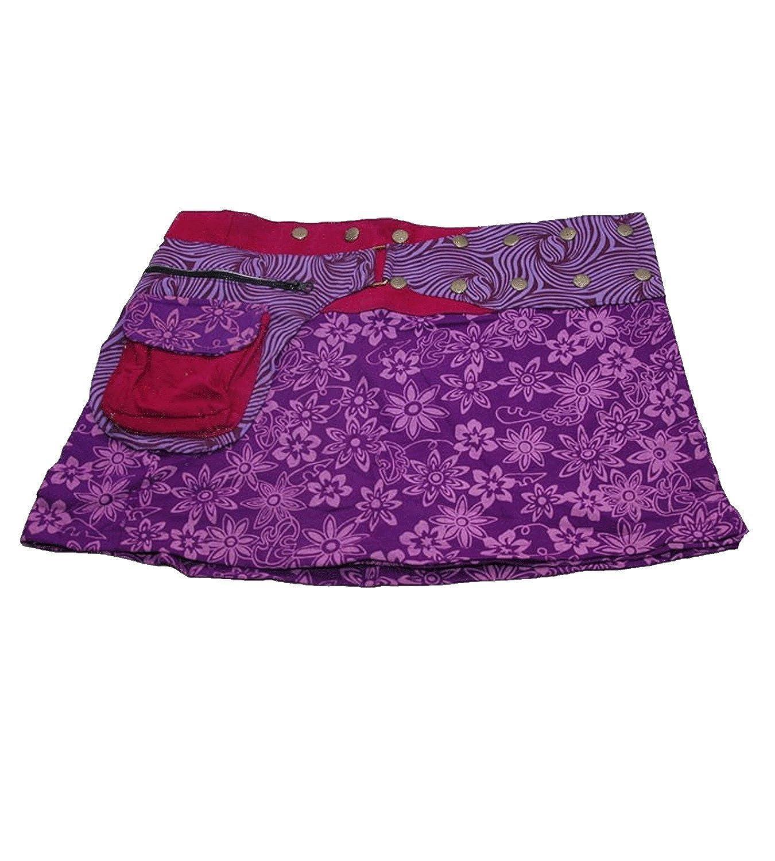 Lila boho Falda Minifalda cacheur hippie Goa Rock: Amazon.es: Ropa ...