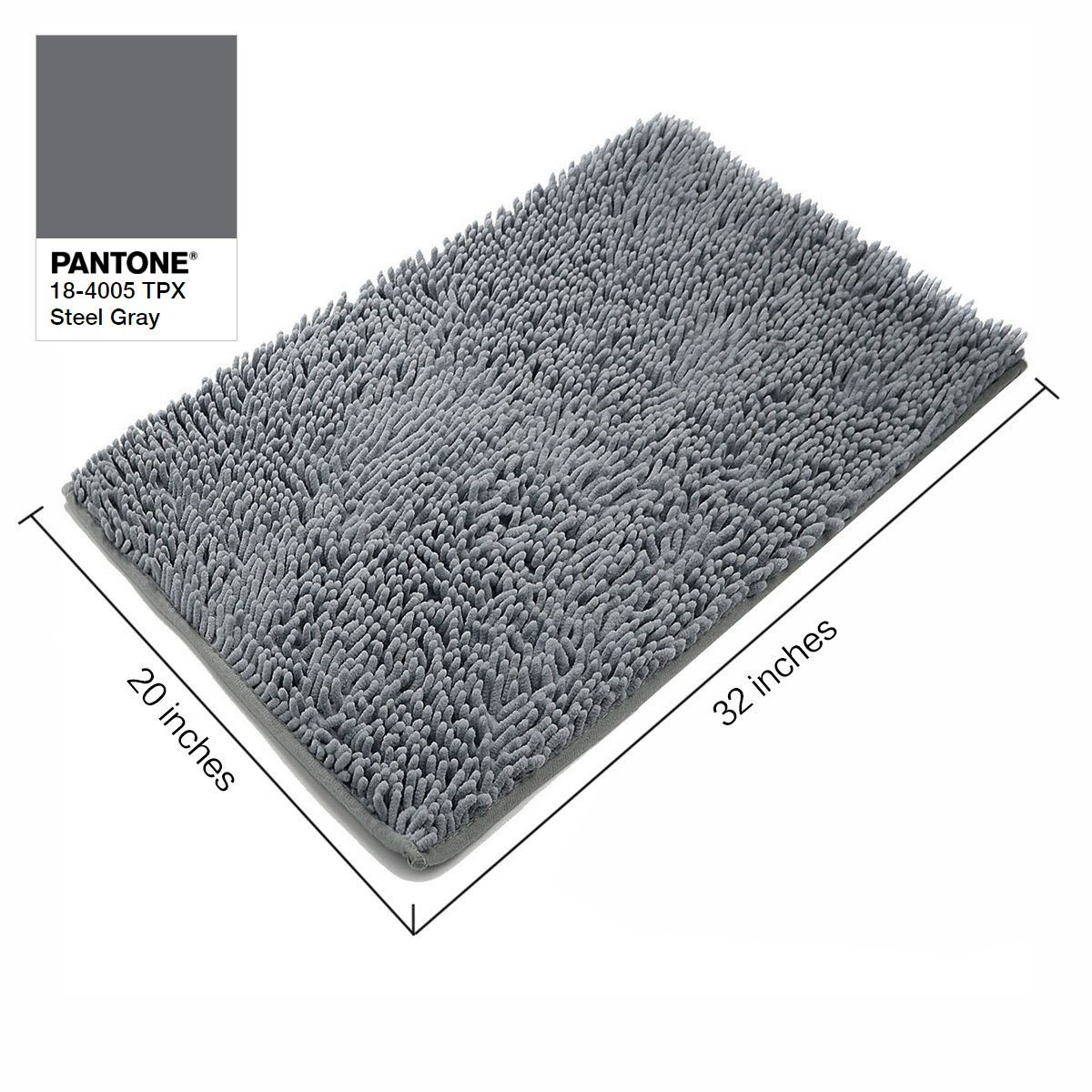 Amazon.com: VDOMUS Absorbent Microfiber Bath Mat Soft Shaggy ...