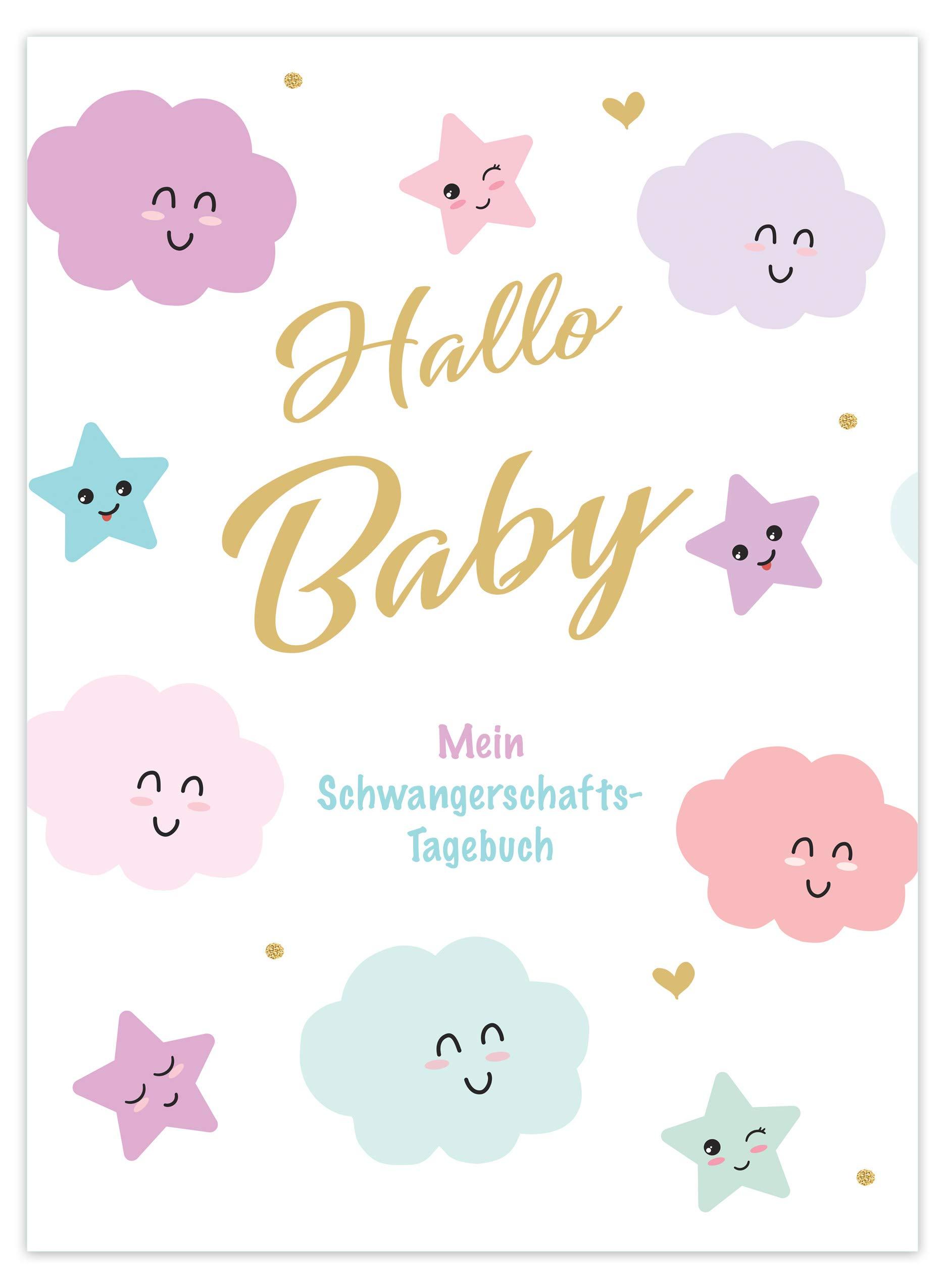 Edition Seidel  Hallo Baby Mein Schwangerschaft Tagebuch Hardcover Mit 96 Seiten Schwangerschaft Tagebuch