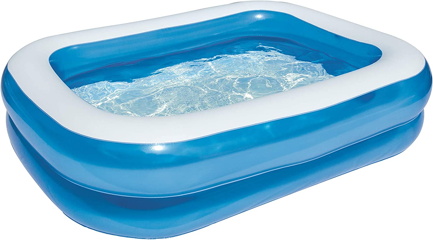 Bestway 54005 - Piscina Hinchable Infantil Blue Rectangular 201x150x51 cm: Bestway 79 x 59 x 20-inches Rectangular Family Pool: Amazon.es: Jardín