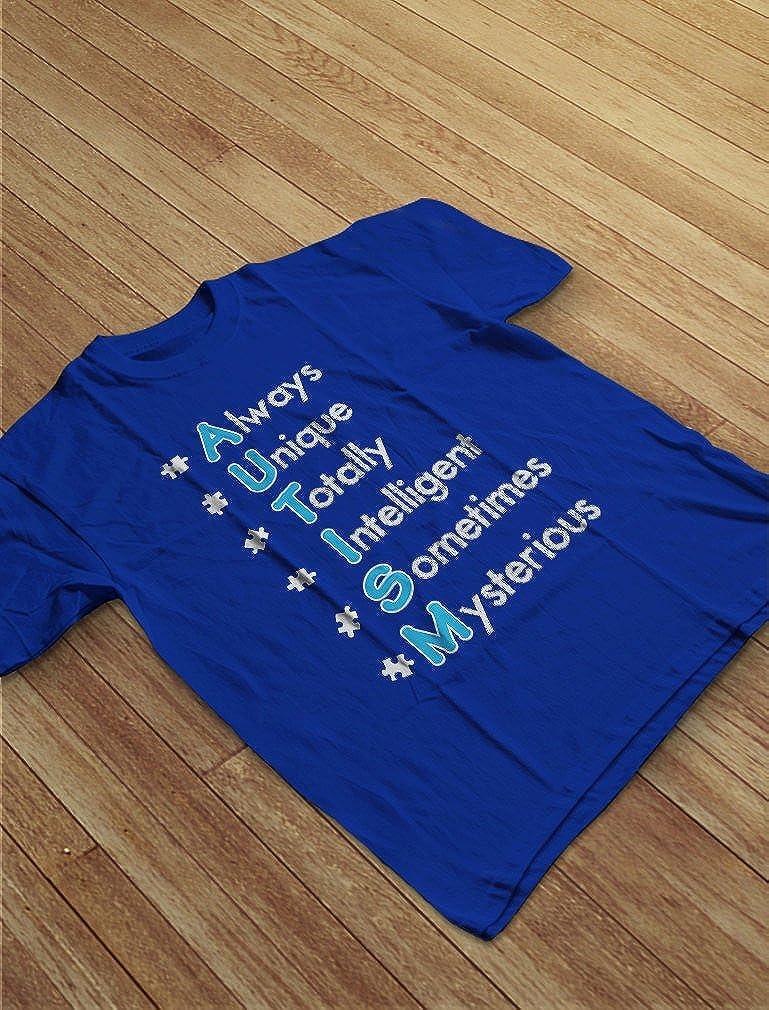 Autism Always Unique Autism Awareness Youth Kids T-Shirt TeeStars