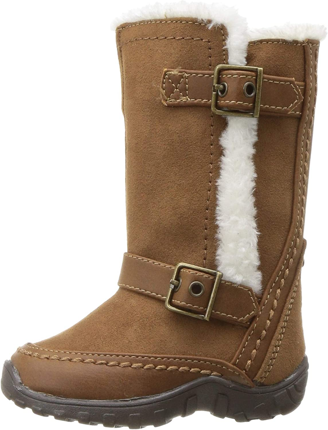 Beige nn Lovely Zipper Faux Fur Toddlers Kids Girls Winter Boots Shoes Size 3