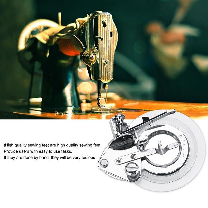 Flor Máquina de coser Multifuncional Plisado Prensatelas Bordado Puntada Círculos Ruffler Prensatelas para la mayoría de la máquina de coser de vástago ...