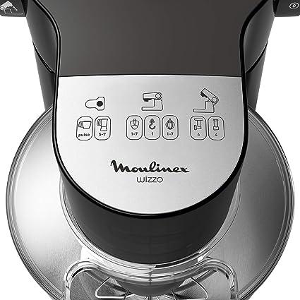 Moulinex Wizzo Robot De Repostería con Kit para Masas, 700 W, 4 litros,