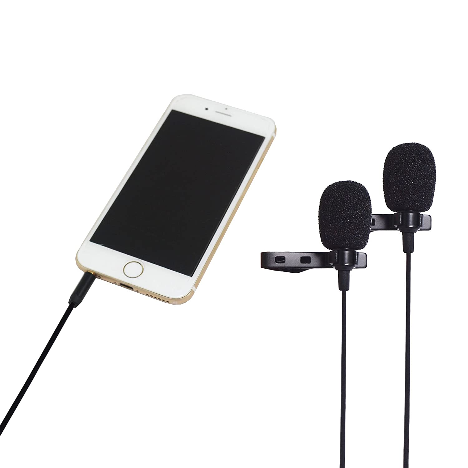 Amazon.com: Riqiorod Lavalier Lapel Microphone, Omidirectional Mic with 3.5mm TRRS Jack Female Port, for Audio Gaming Interview Podcast Youtube Smartphone ...