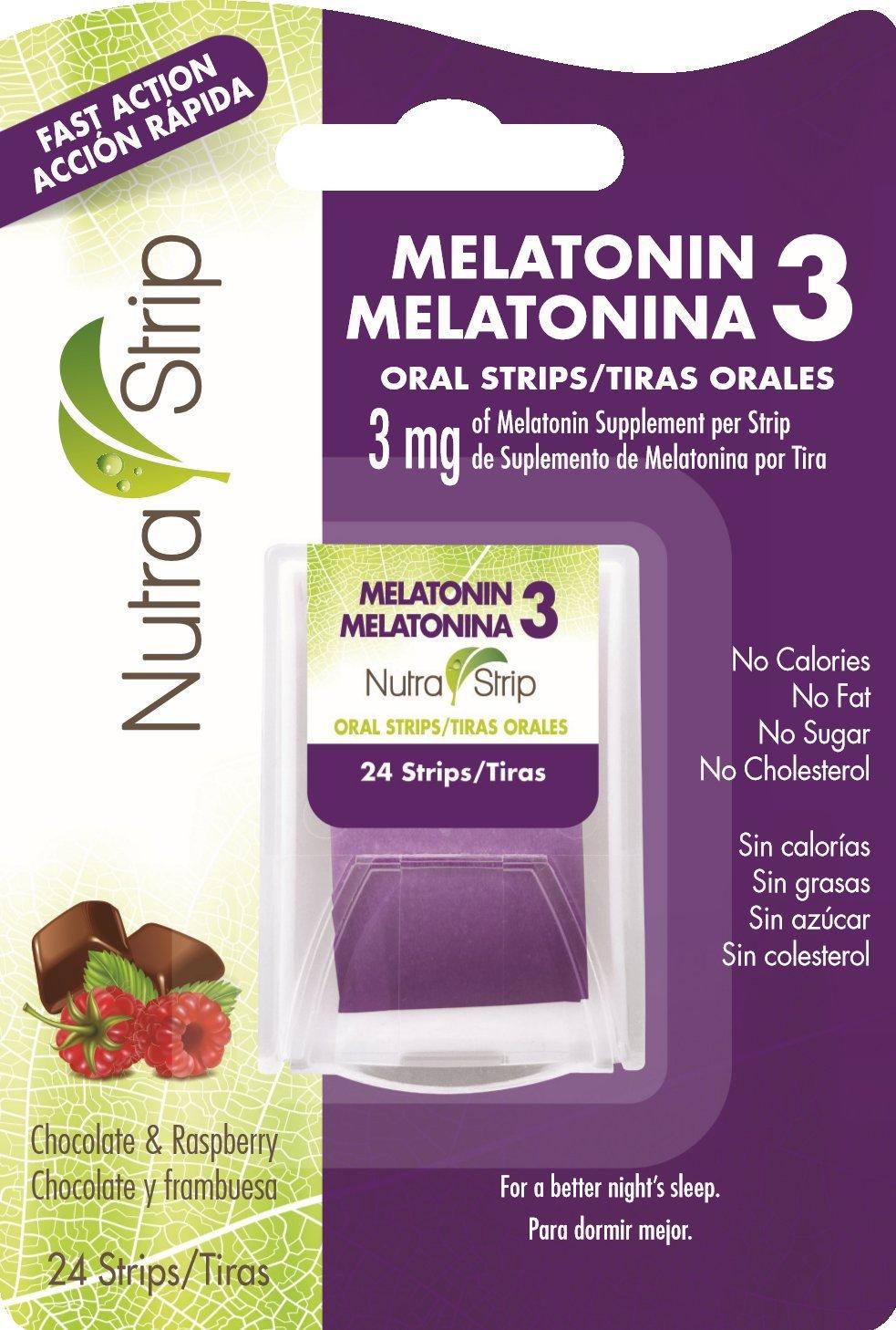 Amazon.com: Nutra-Strip Melatonin 3 / Melatonina 3 X10 Pack: Health & Personal Care
