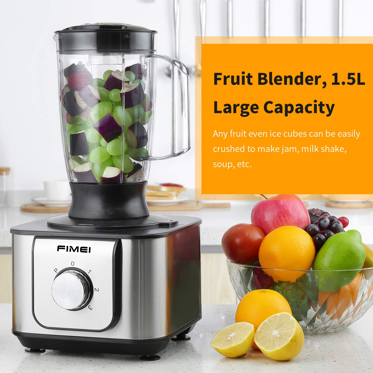 1100W Robot de cuisine Blender 11 in 1 3 2L Collection Bol