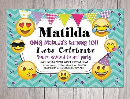 10 x invitaciones para nios emoji invitaciones para fiestas con sobres