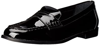 85c5eeb08fb Lauren Ralph Lauren Women s Barrett Penny Loafer Black Patent Leather 5 ...