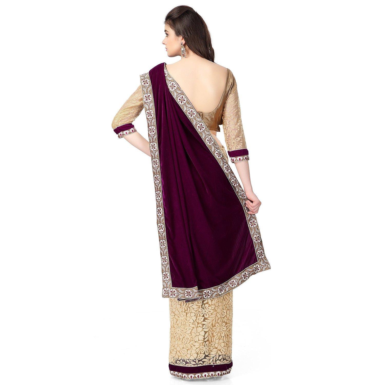 0f894620a0f29b Janasya Women's Brasso & Net Saree (JNE0641.D_Multi-Coloured): Amazon.in:  Clothing & Accessories