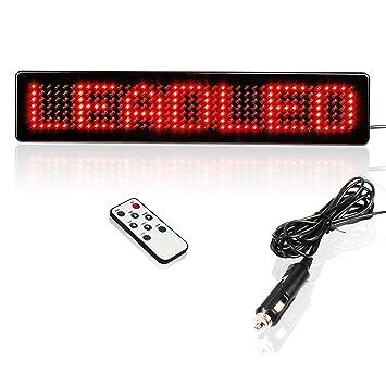 Leadleds 12V Led Car Sign Scrolling Message Display Board Remote  Programmable For Car Windows, Shop