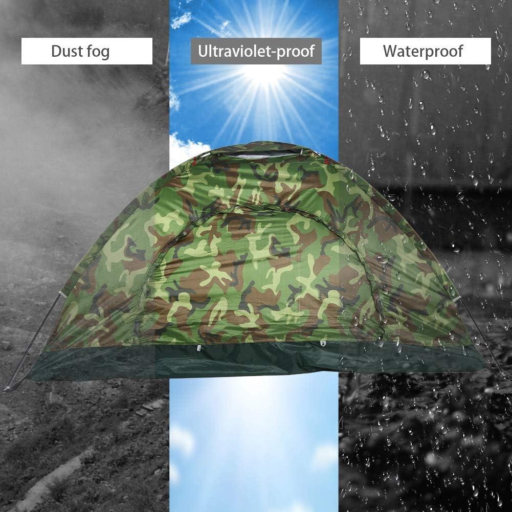 para la Familia Tienda de protecci/ón Ligera UV para Caminatas de Campamento Impermeable Tienda de campa/ña para 2 Personas al Aire Libre Focket Tienda de campa/ña de Camuflaje