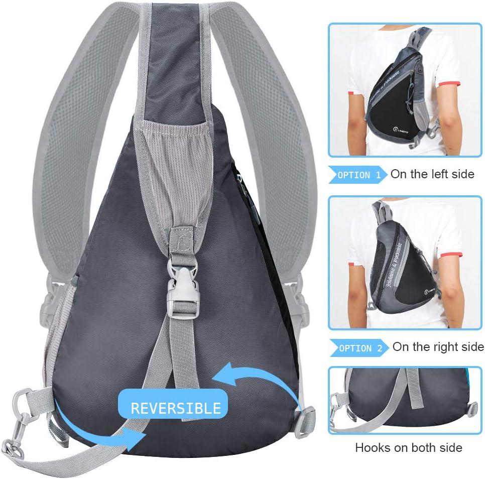 Waterproof Shoulder Backpack Crossbody Bags Daypack for Men Women Multipurpose Outdoor Hiking Travel RLANDTO Sling Bag Backpack