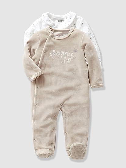 VERTBAUDET Lote de 2 pijamas para bebé unisex Lote Canamo 6M - 67CM