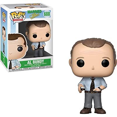 Funko Pop Television: Married with Children - Al Bundy with Remote Bundled with 1 PopShield Pop Box Protector: Toys & Games