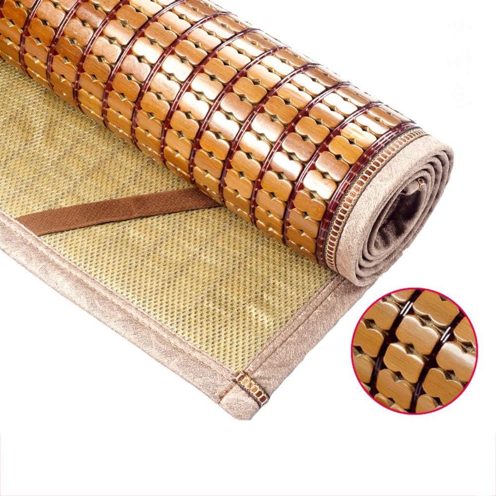 LJ&XJ Foldable Cooling Summer Sleeping Pad Mattress, Durable Carbonized Mahjong Bamboo Mat Smooth Dormitory Tatami Mattress-i Full