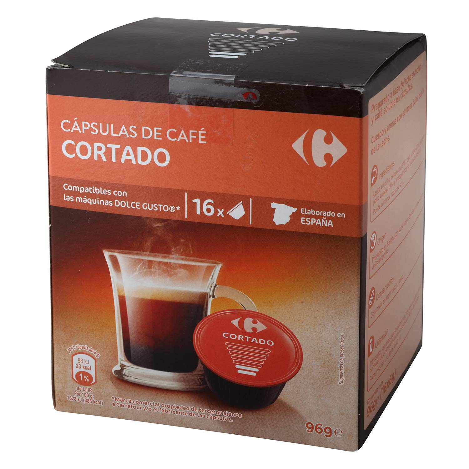 Amazon.com : 4 Pack Carrefour Coffee Pods - Cut Espresso Flavor - Capsules Compatible with Nespresso Machine & Dolce - Made in Spain - 10 Single Serve ...