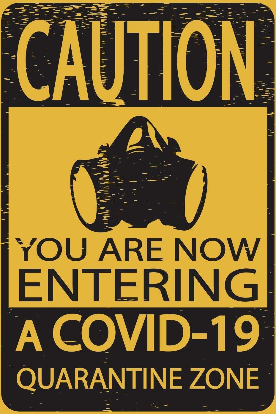 Toothsome Studios Caution Covid-19 Quarantine Zone 8.5