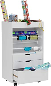 Studio Designs Wrapping Cart in White 13260