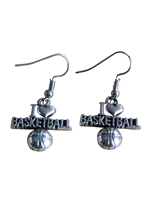 Purposefull I Love baloncesto pendientes de gota - gran regalo ...