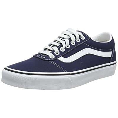 Vans Mens Ward Canvas Dress Blues White Trainers 8 US | Fashion Sneakers