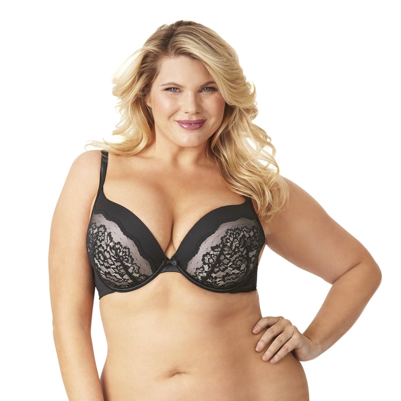 14984e9e53903 Olga Women s Flirty Deep Plunge Underwire Contour Bra with Lace at Amazon  Women s Clothing store