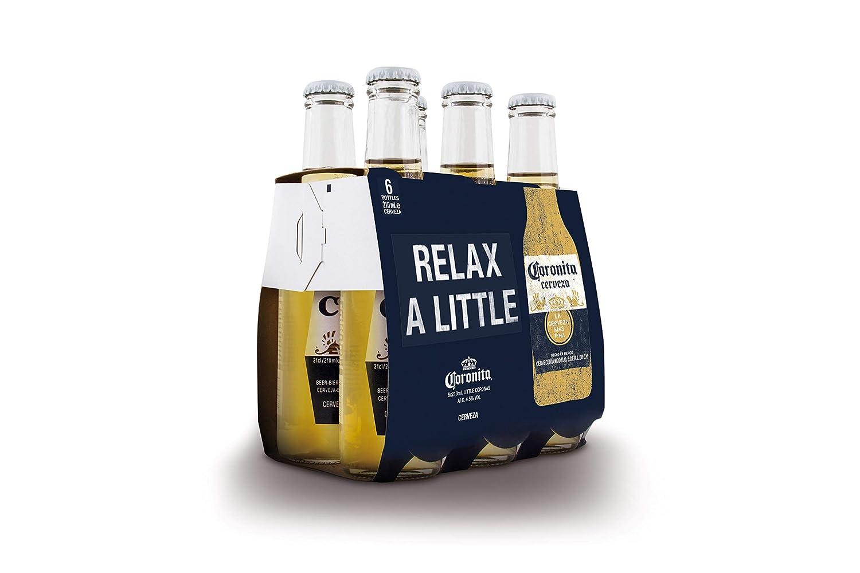 Coronita Cerveza - Paquete de 6 x 210 ml - Total: 1260 ml ...
