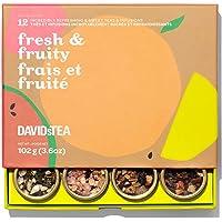 DAVIDsTEA Fresh & Fruity Tea Sampler, Loose Leaf Tea Gift Set, Assortment of 12 Fruity Teas and Infusions, 102 g / 3.6…