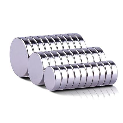 Imanes, MBIGM 30 pcs fuerte cilindro nevera imanes de neodimio de fotos Officemate mejor para