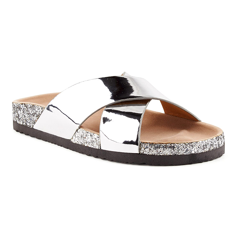 designer fashion a49aa 59fe6 Boulevard X über Sandalen Pantoffeln Keilabsatz Schlappen