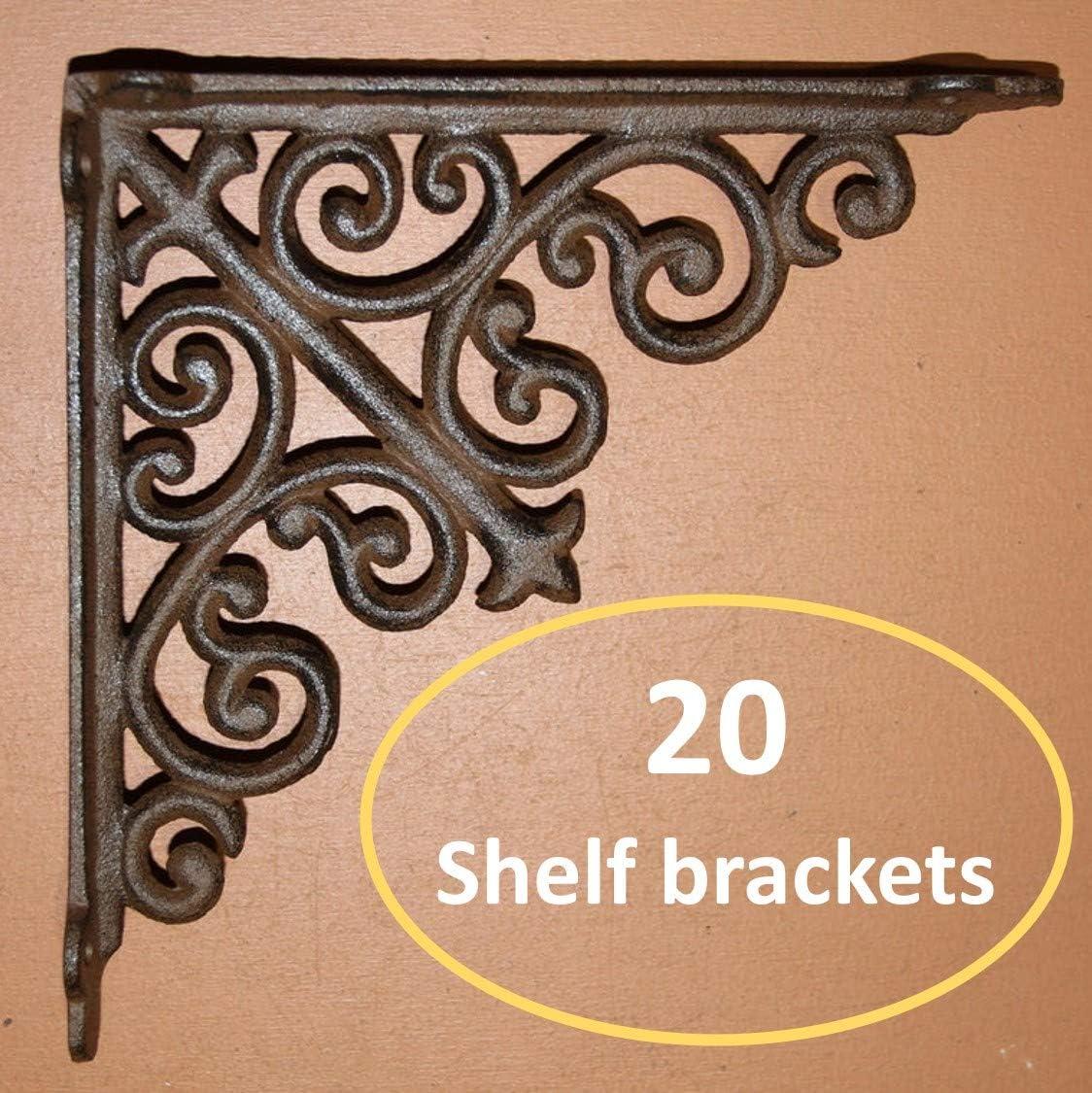 Decorative L Brackets Cast Iron Shelf Brackets Corbels 9 inches B-46