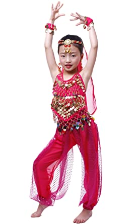 930be7f93 Amazon.com  Astage Girls Arabian Princess Costume Belly Dancing ...