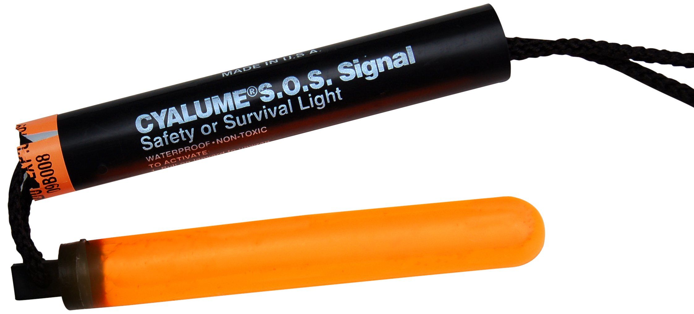 Cyalume ChemLight Military Grade SOS Signal Light Chemical Light Sticks, Orange, Ultra-High Intensity, 5-1/4'' Long, 5 Minute Duration (Pack of 5)