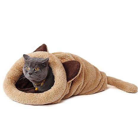 PAWZ Road Cat Sleeping Bag Fleece Soft Self Warming Camas Lavables para Gatos Snuggle Sack Matket