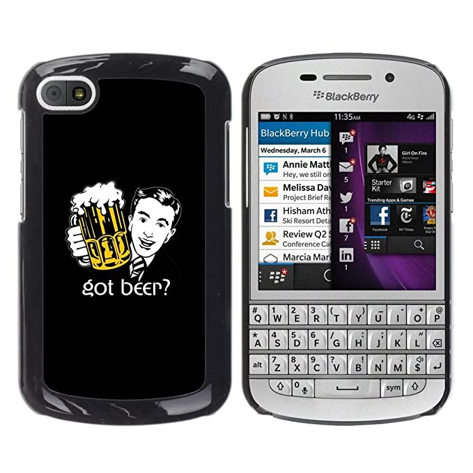 Carcasa de plástico funda | | BlackBerry Q10 | | Cerveza Bar Pub ...