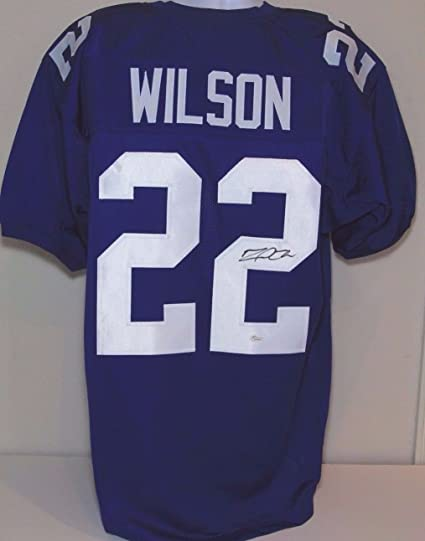bcf76d8a Amazon.com: David Wilson NY Giants Va Tech Autographed NFL Jersey ...