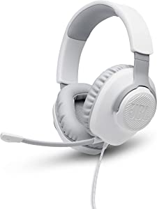 JBL Quantum 100 - Wired Over-Ear Gaming Headphones - White