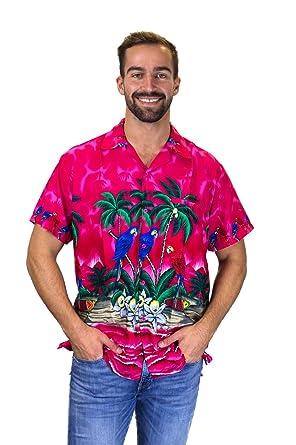 Funky Hawaiihemd, Parrot, pink, 3XL